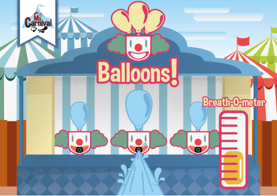 Ballons mini game concept art