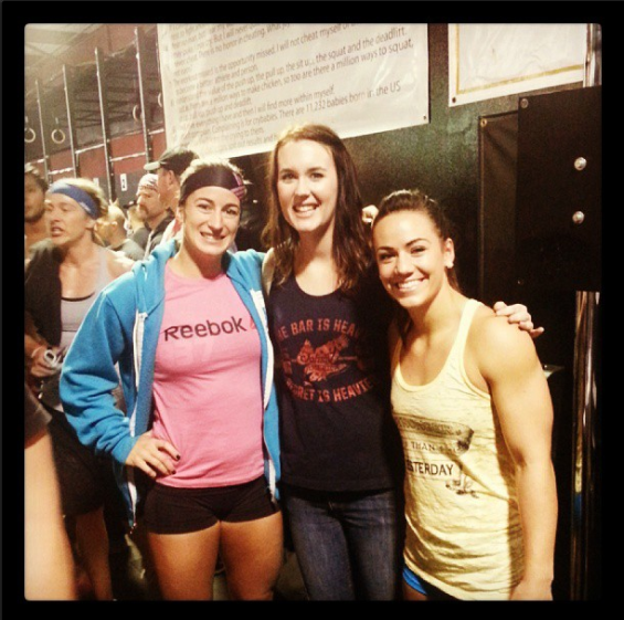 JAC co-founder with CrossFit Games athletes Jenn Jones (Finished #6, left) and Camille LeBlanc-Bazinet (#16, right). A JAC shirt signed by both is available as a reward to the first person or affiliate who donates $500!