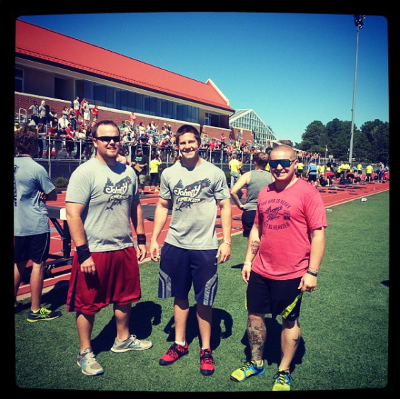 Athletes at the Natural State Throwdown rocking JAC gear!