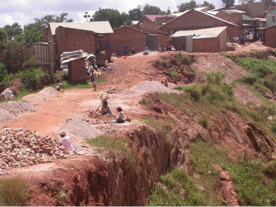 "The ""Acholi Quarter"" lies next to the stone quarry in Kireka-Kampala, Uganda"