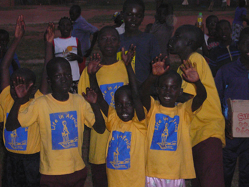 LiA Kids participate in club activities at LiA's community center in the Acholi Quarter