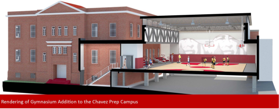 Rendering of the Gymnasium Addition