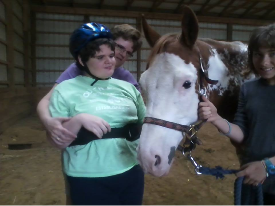 SOAR Student with SOAR Horse Cassie