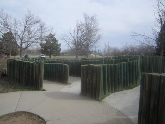 Entrance to the first Maze built by the Lions Club in Fort Collins, CO.