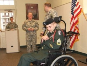 our son receives the Bronze Star and the Purple Heart