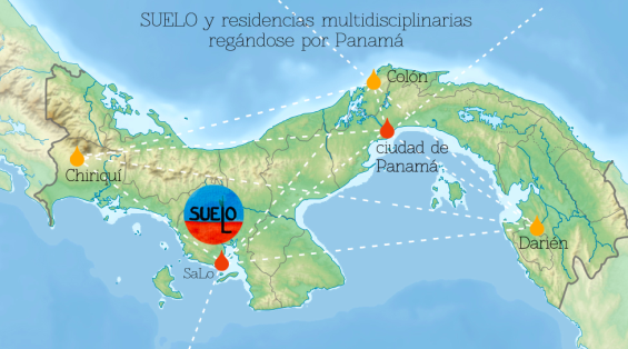 map of Panama and networks we could create through the spreading of SUELO