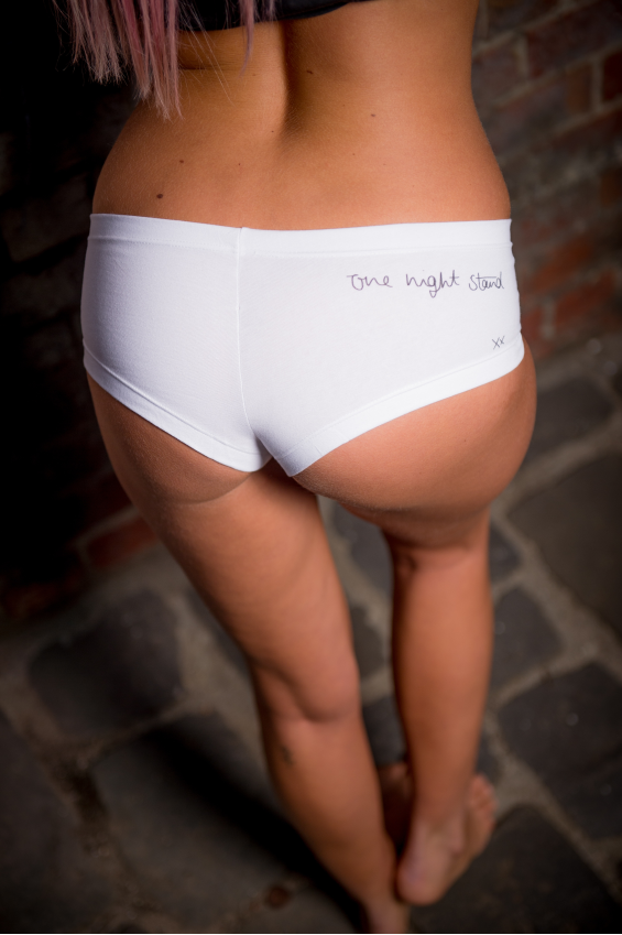 White briefs (ladies) with ONS signature