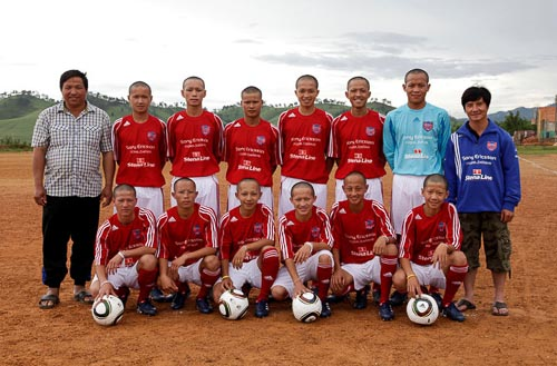 First Laotian Team To Play Outside Asia