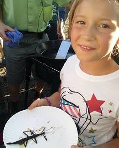 Yum yum! Walking stick fried at the Zilker Park Bug Festival