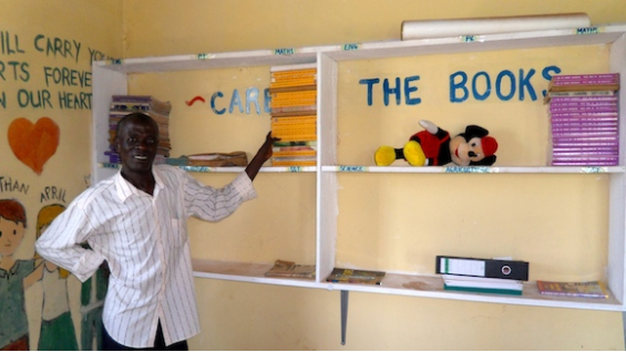 The Global Handprints library at Mukono Children's Home, Uganda