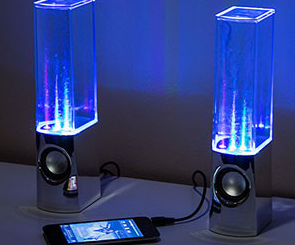 Light Up Speakers with Water Jets
