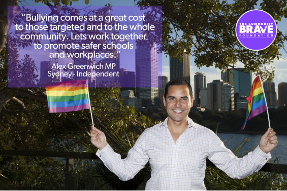 Alex Greenwich Supporting Community Brave