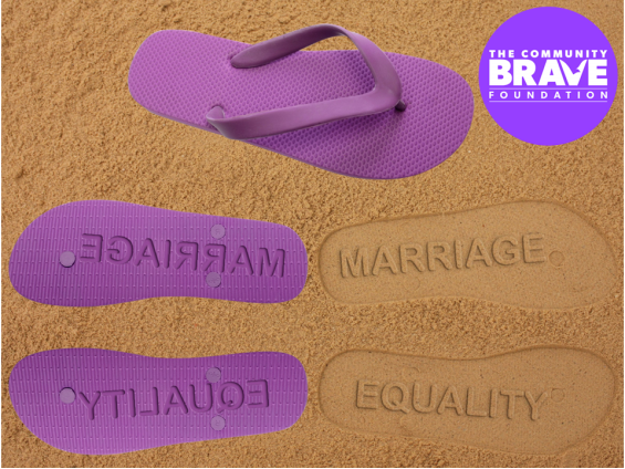 Marriage Equality Sandals / Thongs