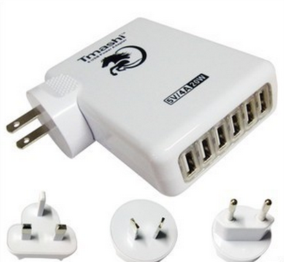 Multi-Port USB Charger Travel Pack