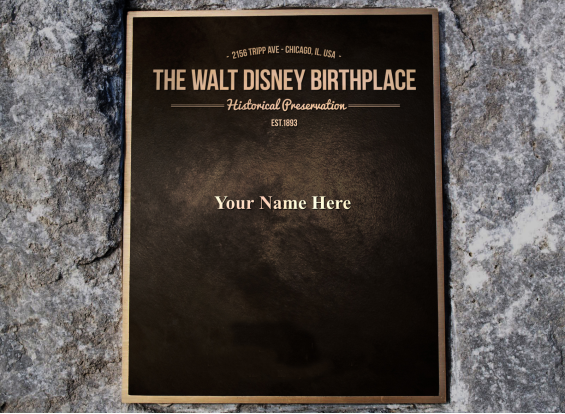Walt Disney Birthplace Plaque