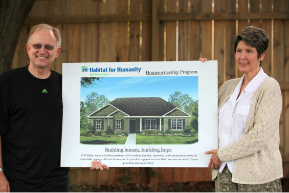 Dave Winchell and Camille Cordak of Habitat for Humanity